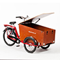 Box lid with gas damper - wide trike only